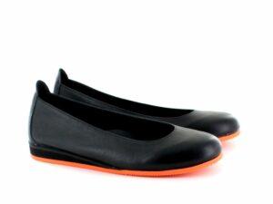 Ballerine - Noir semelle orange