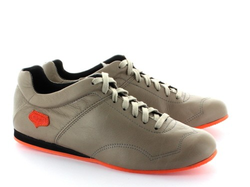 Supporter Homme - Taupe semelle orange