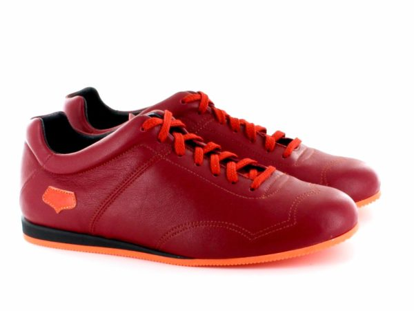 Supporter Femme - Rouge semelle orange