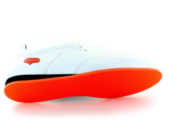 Supporter Femme - Blanc semelle orange